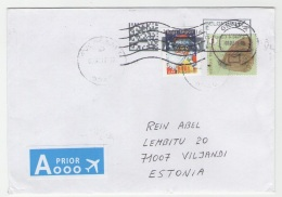 GOOD BELGIUM Postal Cover To ESTONIA 2016 - Good Stamped: Santa Claus ; Butterfly - Belgium