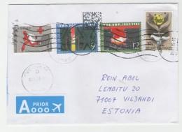 GOOD BELGIUM Postal Cover To ESTONIA 2015 - Good Stamped: Pob/bwp ; Red Cross - Belgium