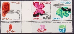 Israele/Israel 1975 ENVIRONMENT BUTTERFLY FISH Con Tab Mnh - Unused Stamps (with Tabs)