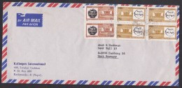 Nepal: Airmail Cover To Germany, 1978, 6 Stamps (discolouring) - Nepal