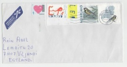 GOOD NETHERLANDS Postal Cover To ESTONIA 2016 - Good Stamped: Love ; Birds - Covers & Documents