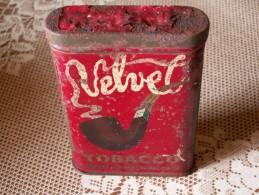 """""  BOITE  ANCIENNE  - VELVET  Tabac Pour Pipe //  Format   11 X 7,5 X 2 """" - Empty Tobacco Boxes"