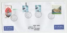 GOOD HONG KONG Postal Cover To ESTONIA 2016 - Good Stamped: Art ; Ship ; Birds - 1997-... Chinese Admnistrative Region