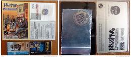 1995-1996- 2 Cartes SALON PASSION CHARLEROI-DESSINATEUR JEAN CHARLES- +2 Cartes Tel Sous Film+1 Jeton Caddie - Lots - Collections