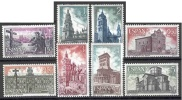 ESPAÑA 1971 - AÑO SANTO COMPOSTELANO (III GRUPO) - EDIFIL Nº 2063-2070 - YVERT 1717-1724 - Kirchen U. Kathedralen