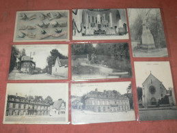 PARMAIN   1910  LOT DE 8 CPA  GRUSS  / RUE MARECHAL FOCH /  LAVOIR /  MAIRIE / CHAPELLE  CIRC OUI  EDIT - Parmain