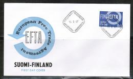 EUROPEAN IDEAS 1967 FI MI 619 FDC EFTA FINLAND - Idee Europee