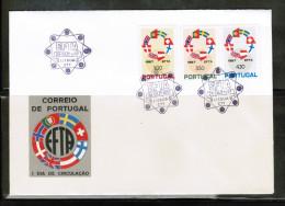 EUROPEAN IDEAS 1967 PT MI 1043-45 FDC EFTA PORTUGAL - Idee Europee