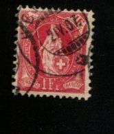 ZWITSERLAND GEBRUIKT USED OBLITERE GEBRAUCHT YVERT 79 - 1882-1906 Armoiries, Helvetia Debout & UPU