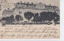 4010g: Hotel Central, Gelaufene AK 1904 (alte Preisauszeichnung ÖS 130.-) - Baden Bei Wien
