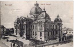 BUCHAREST ~ CASA DE DEPUNERI, BUCURESTI, ROMANIA (PALATUL C.E.C.) ~ Pu1916 - Romania
