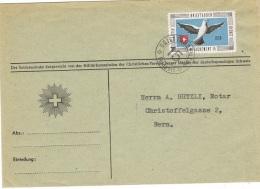 PIG-L3 - SUISSE Feldpostbrief Brieftauben Detachement 15 Sur Lettre Avec Pigeon - Poste Militaire