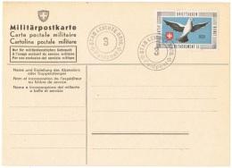 PIG-L4 - SUISSE Feldpostbrief Brieftauben Detachement 15 Sur Carte Postale Avec Pigeon - Poste Militaire