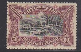 Belgisch Congo 1915 50c Lilabruin   ** Mnh (29236) - Belgisch-Kongo
