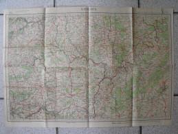 Carte Longwy 1896. Luxembourg Bastogne Treves Merzig Virton - Roadmaps