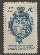 Timbres - Liechtenstein - 1920 -  15 H. -