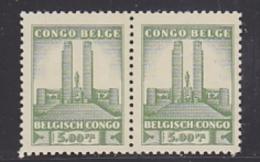 Belgisch Congo 1941 Monument Koning Albert I Te Leopoldstad 5 Fr  1w  (paar) ** Mnh (29239) - Belgisch-Kongo