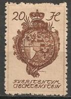 Timbres - Liechtenstein - 1920 -  20 H. -