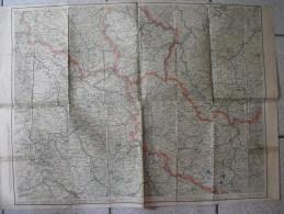 Carte Couleurs Nord Est De La France Vers 1900. Belgique Luxembourg Allemagne Alsace Lorraine - Callejero