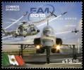 2015 México FERIA AEROESPACIAL, BANDERA    Aerospace Exhibition  Aircraft Airplane, Helicopter,flag STAMP MNH - Mexico