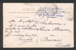 25 - Montferrand - Cachet Hopital Annexe Union Des Femmes De France, Couvent De La Marne  6 6 1915 - Marcophilie (Lettres)