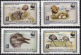 URUGUAY, WWF, Oiseaux, Yvert N° 1459/62 ** Neuf Sans Charniere. MNH. - W.W.F.