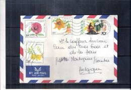 Lettre Du Rwanda Vers La Belgique - Fleurs (à Voir) - Rwanda