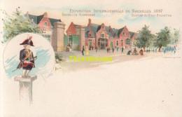 CPA LITHO  EXPOSITION INTERNATIONALE DE BRUXELLES 1897 KERMESSE EDIT J E GOOSSENS  QUARTIER DE VIEUX BRUXELLES - Expositions