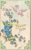CPA CARTE EN RELIEF AVEC TISSUS ** EMBOSSED CARD WITH ADDED TISSU FABRIC - Fêtes - Voeux