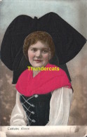 CPA CARTE EN RELIEF AVEC TISSUS MODE COSTUME   ** EMBOSSED CARD WITH ADDED TISSU FABRIC ALSACE ELSASSER TRACHT - Mode