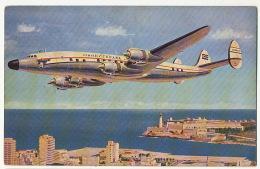 """Cubana De Aviacion Giant """" G"""" Constellation To Azores, Spian, Portugal New York 1954 - 1946-....: Ere Moderne"""