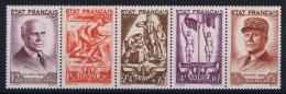 France: Yv Nr 576 - 580 MNH/** Sans Charnière Postfrisch