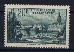 France: Yv Nr  394 MH/* Falz/ Charniere 1938