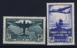France: Yv Nr  320 - 321 MH/* Falz/ Charniere 1936