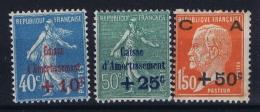 France: Yv Nr  247 - 249 MH/* Falz/ Charniere 1927 - France