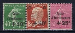France: Yv Nr  253 - 255MH/* Falz/ Charniere 1929 - France