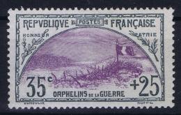 France: Yv Nr  152 MH/* Falz/ Charniere 1917 - France