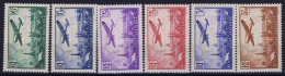France: Yv Nr  AE 8 - 13 MH/* Falz/ Charniere   1936