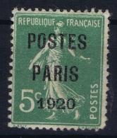 France: Yv Nr Preo 24  MH/* Falz/ Charniere 1920