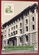 TRIESTE 1974 MOSTRA FILATELICA CASC BANCA D'ITALIA CARTOLINA EINAUDI CON ANNULLO SPECIALE - Pubblicitari