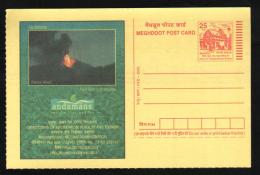 India  2005  Live Volcano  Andamans & Nicobar Islands  Meghdoot Post Card    # 90571  Inde Indien - Volcanos