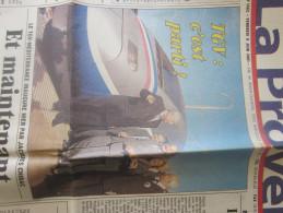 """THEME:TRAIN A GRANDE VITESSE TGV """"C'EST PARTI"""" JOURNAL""""LA PROVENCE""""DU VEN 8 JUIN 2001 MARSEILLE  CHEMIN DE FER FRANCAIS - Periódicos"""
