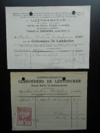 IJzermagazijn Gebroeders De Lentdecker Stoven Kachels Dendermonde   Termonde Brouwer Dubois Oudegem Audegem - 1900 – 1949