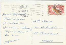 LIBAN CARTE DE BEYROUTH POUR LA FRANCE 1966 -VOITURE COCINNELLE - Liban
