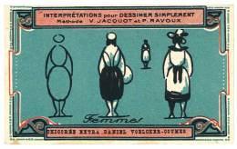 Chromo Chicorée Extra Voelcker-Coumes à Bayon ... Dessiner Simplement ...méthode Jacquot Et Ravoux ... Femmes - Autres