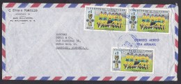 El Salvador: Airmail Cover To Germany, 1973, 3 Stamps, Sports, Soccer, Football, Cup, Rare Real Use (creases) - El Salvador