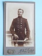 Soldaat - Soldier / Soldat (.... 6 Op Muts ) Identificier ( Photo CDV Halleux-Mertens Zurenborg Berchem ( Zie Foto's ) ! - Krieg, Militär