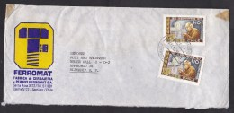 Chile: Cover To Germany, 1981, 2 Stamps, Protection Of Elderly People (discolouring Tape) - Chili