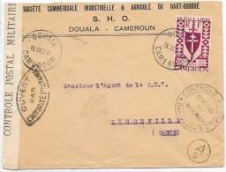 LBL37COL -CAMEROUN  LETTRE DOUALA / LIBREVILLE 16/12/1941 CENSURE - Cameroun (1915-1959)