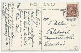 """1923 - MARITIME - CARTE Du RMS """"AUSONIA"""" à QUEBEC (CANADA) Pour APPENZELL (SUISSE) - OBLITERATION PAQUEBOT LIVERPOOL - Postmark Collection"""